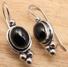 925 Silver Plated BLACK ONYX ONLINE SHOPPING Earrings Jewelry BESTSELLER GIFT