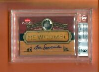 2006 GREATS OF THE GAME DON NEWCOMBE AUTOGRAPH GU BARREL 1/2 MADE BGS 9/10 RARE