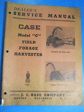 CASE MODEL C FIELD FORAGE HARVESTER  DEALERS Service Manual   1948