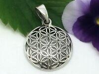 Blume des Lebens Anhänger Echt Silber 925 Ø 1,8cm Mandala Esoterik