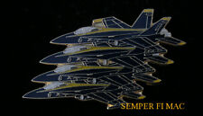 #* US NAVY BLUE ANGELS F18 HORNET ECHELON ANGEL HAT LAPEL PIN UP TIE TAC USS