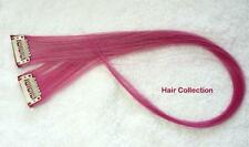 """18""""Hot Pink Human Hair Clip In Extensions for Highlight (2pcs)"""