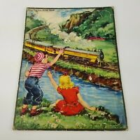 Vintage Witman Frame Tray Inlay Pucture Puzzle No 2603 Florence Sarah Winship