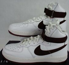 New Mens 11.5 Nike Air Force 1 Hi Retro QS White Leather Shoes$140 743546-102