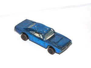 1969 Hot Wheels Redline Custom Charger ALL ORIGINAL BLUE PROJECT/PARTS CAR!