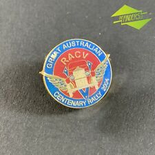 2004 RACV GREAT AUSTRALIA CENTENARY RALLY ENAMEL BADGE PIN BACK AUTOMOBILIA