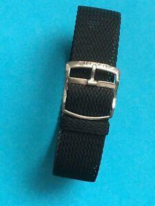 Eulit Perlon Uhrenarmband  Modell Eulit Kristall  schwarz 20 mm  Uhrband WS