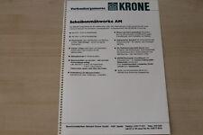 163393) Krone Scheibenmähwerk AM - Verkaufsargumente - Prospekt 1983