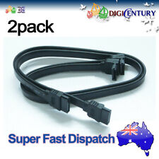 ASUS Serial SATA 3 III Data Cable 6G Black Clips for Hard Drive HDD SSD 2 Pack
