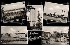 9611/ Foto AK, Bergkamen, Zeche, Freibad, 1960