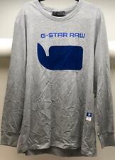 Men's G-Star Raw Long Sleeve Shirt, Grey/Blue, XXLarge - NEW