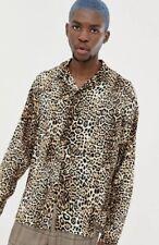 Collusion leopard print Shirt Mens Size S