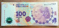 EVITA PERON  Billet de banque USED XF  Argentine 100 Pesos   , plis , fold AR45