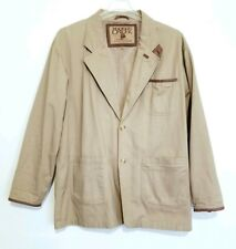 Madison Creek Outfitters Mens Outdoor Hunting Jacket Blazer Coat Tan Brown Sz XL