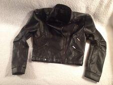 "Jacket Black Medium Spiritual Active Woman 35"" chest -32"" waist Biker"