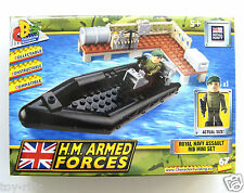HM ARMED FORCES ROYAL NAVY RIB ASSAULT SET BY CHARACTER BUILDING - BRAND NEW!