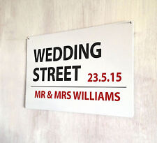 Personalised London Street Wedding gift sign A4 metal plaque