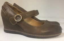 Earth Northstar Brown Wedge Mary Janes Womens size 9 B