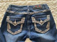 Women's Grace In LA flap pocket Embellished Skinny jeans size 25