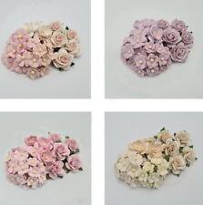 Special 30 Paper Flowers Kit Pack Scrapbook DIY Wedding Home Craft Supply APR6