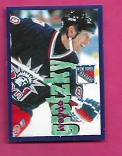 1998-99 PANINI # 3 RANGERS WAYNE GRETZKY  STICKER MINT CARD (INV# C2297)