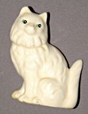 "2.5"" White Persian Cat Porcelain Figure Ceramic"