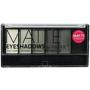 Technic Smokey Matte 6 Shades EyeShadow Palette Set White Grey Black