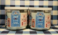 LONDON TEA & BISCUITS 3 Wick Candle x2 Bath & Body Works White Barn
