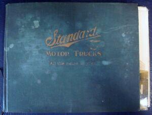 STANDARD MOTOR TRUCKS DETROIT U.S.A - PUBLICITY PHOTO FOLDER - SOLID TYRE MODELS