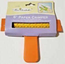 "6"" Paper Crimper Straight Teddy Bear 2 sizes Miss Elizabeth New 12 across Roller"