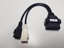 Audi obd2 16 pin obd1 2x2 pin diagnóstico conector cable adaptador VAG #0b9