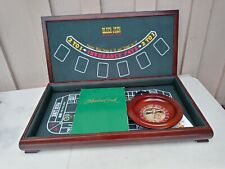 Preowned Full Size Portable 3 in 1 Casino Gaming Table Black Jack Roulette Craps