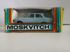 1/43 SCALE DIECAST USSR MADE MODEL CAR MOSKVICH  408-BLUE   With Box.