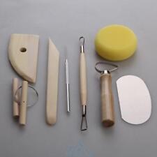 8tlg Modellier Werkzeuge Töpferwerkzeug Ton Töpfer Keramik Modellierset Zubehör