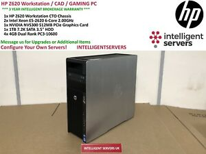 HP Z620 Workstation 2x Xeon E5-2620 2.00GHz 16GB 1TB SATA HDD Quadro NVS 300