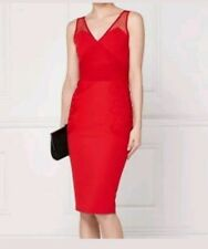 STONING NEXT RED APLIQUE LACE BODYCON FITTED DRESS SIZE 18 NEW