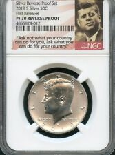 2018 S Silver Kennedy Half Dollar REVERSE PROOF NGC PF70 (POR) FIRST RELEASES