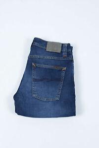 Nudie Jeans Grim Tim Crosshatch Worn IN Slim 115 GBP Bleu Hommes Jean 31/34