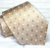 Cravatta marrone fiori seta 100% Made in Italy handmad informale business