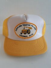 Vintage Parkland Tractor Pullers Lacombe Alta Yellow Mesh Snapback Trucker Hat