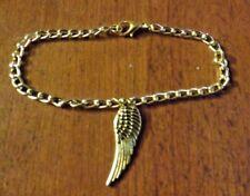 bracelet doré 20 cm aile