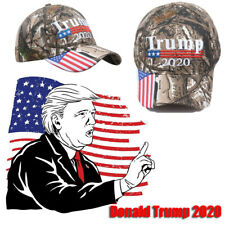 Trump 2020 Election Camo Cap USA Flag Keep America Great Maga Hat President 2H