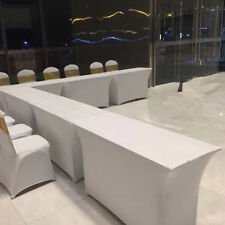Rectangle Elastic Table Cloth Tablecover for Cocktail Bar Wedding Party