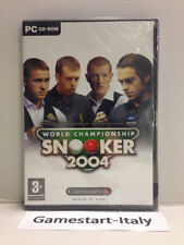 WORLD CHAMPIONSHIP SNOOKER 2004 - PC COMPUTER - VIDEOGIOCO - NUOVO SIGILLATO NEW