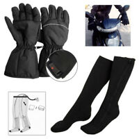 5V USB Chargable Electric Heated Cotton Socks Feet Warmer Insoles+Heated Gloves