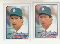JESSE OROSCO 1989 Topps #513 Error Variation Blue Purple Team Banner Dodgers