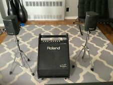 Roland V-Drum Amplifer Pm-30 Speaker System with Tweeters on Stand
