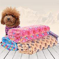 Pet Small/Large Warm Star Print Dog Puppy Cat Fleece Blanket Bed Mat Cushion Pad