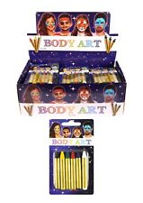 6x  FACE BODY PAINT BODY ART MAKE UP STICKS PARTY FESTIVAL FUN TRAVEL STAGE