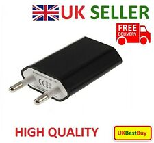 European 2 Pins USB AC Power Adapter EU Plug Wall Charger for Smart Phone -black